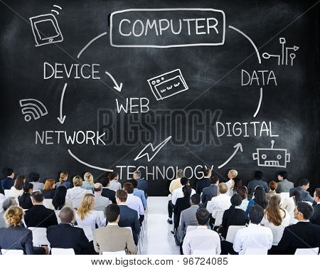 Computer Global Communications Connection Networking Concept