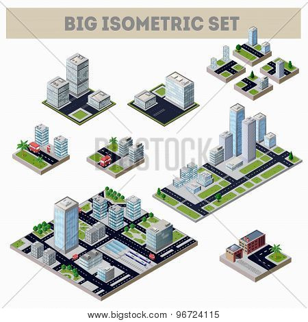 A large set of isometric city