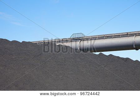 View At Black Coal Deposit With Transporter