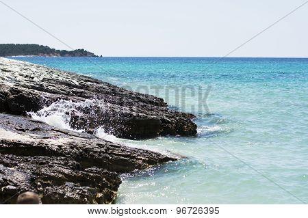 Rocks And Blue Sea