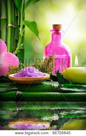 Alternative Treatments Of Natural Essences For Body Care Vertical Composition