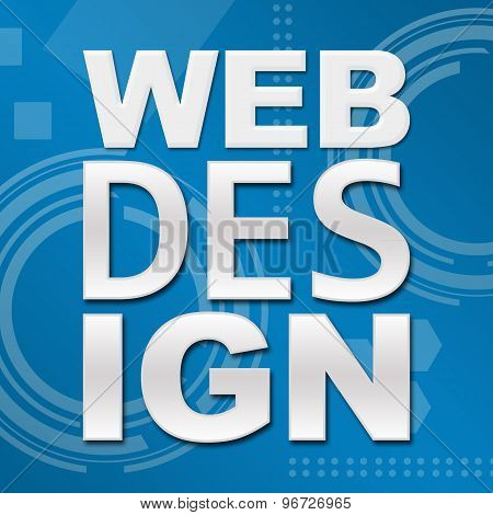 Web Design Blue Technical Background