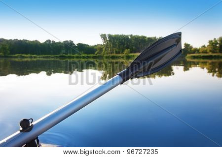Paddle Against The Morning River Landscape