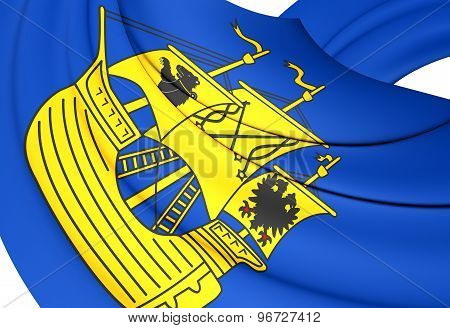 Flag Of Wittmund Landkreis, Germany.