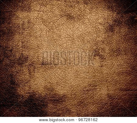 Grunge background of deer leather texture