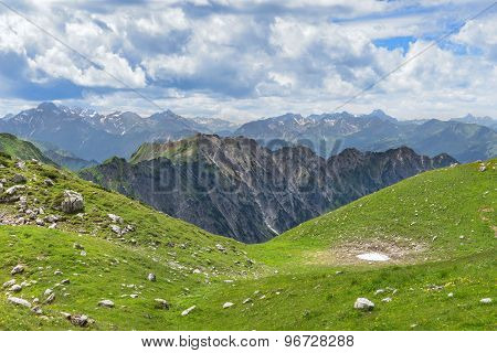 Mountain landscape in early summer