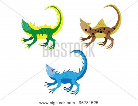 Amusing lizards.