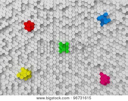 Random Elevated Hewxagons Background.
