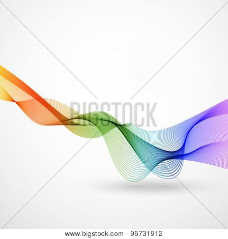 Abstract Color Wave, Easy Editable