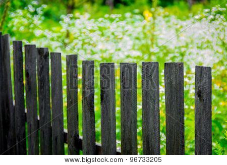 Wooden Fence Made Of  Planks