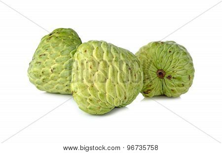 Custard Apple Fruit On White Background