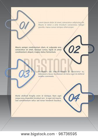 Arrow Binding Clip Infographic With Sample Text