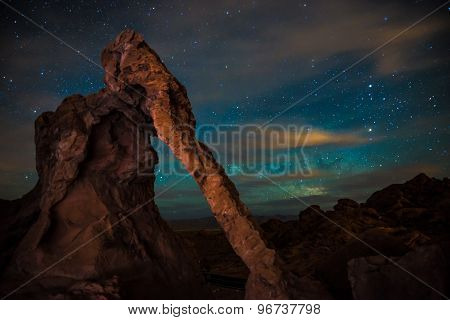 Elephant Rock At Night Valley Of Fire Nevada