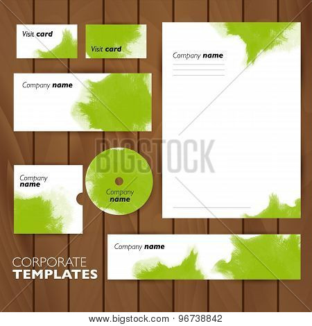 Corporate identity business set design. Abstract background.