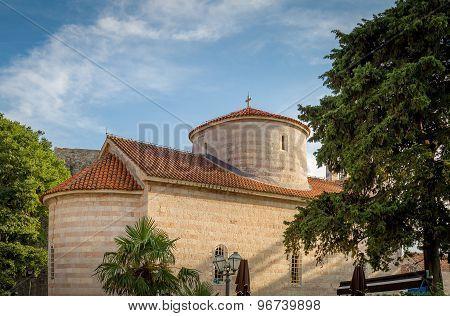 Medieval church in Budva