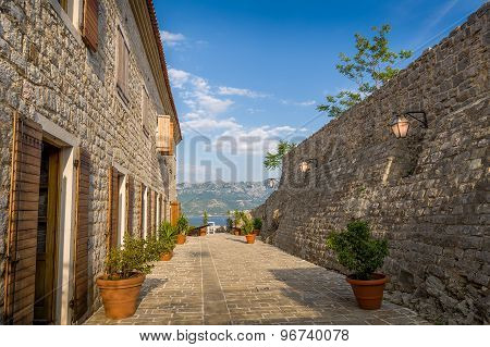 Budva medieval fortress street