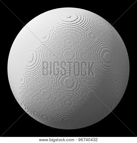 Mini White Blocks Sphere