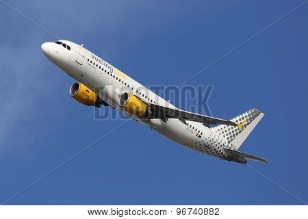 Vueling Airbus A320 Airplane Barcelona Airport