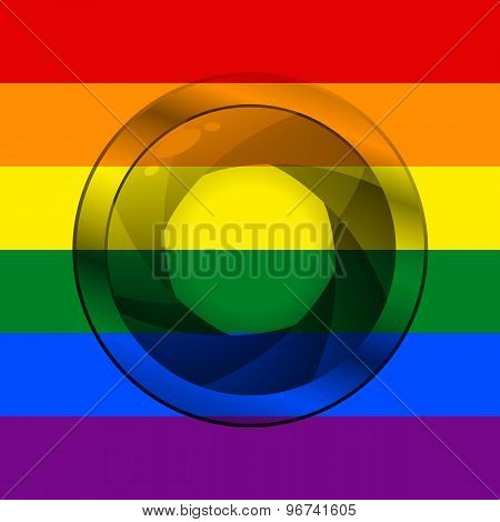 Lgbt Flag With Camera Shutter