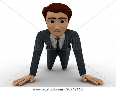 3D Man On Knee And Requesting Concept