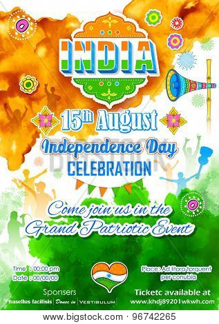 illustration of poster for Indian Independence Day celebration