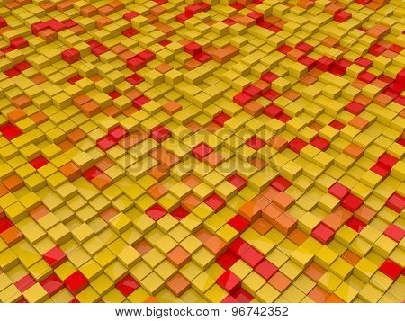Red,orange And Yellow Cubes