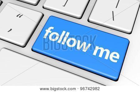 Follow Me Sign Concept