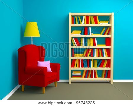 Armchair And Bookcase