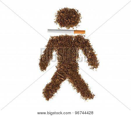 Heap of tobacco.