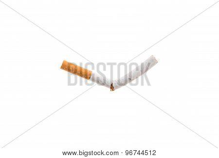Broken cigarette.