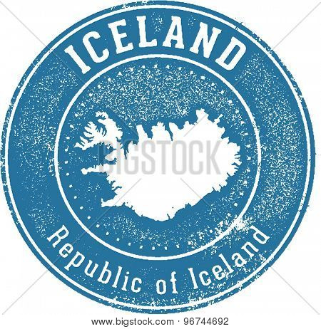 Iceland European Country Stamp