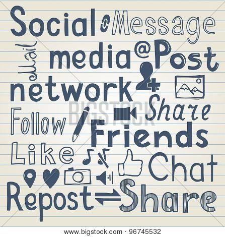 Social media lettering