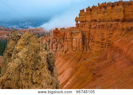 Bryce Canyon Landscape Multicolored Rock Formations