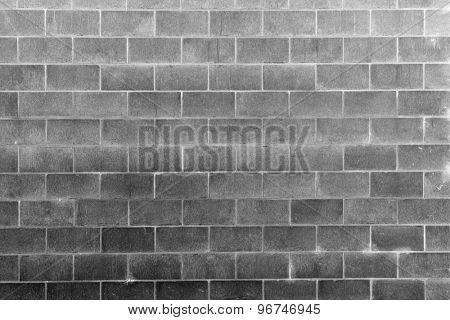 Closeup of grey block wall