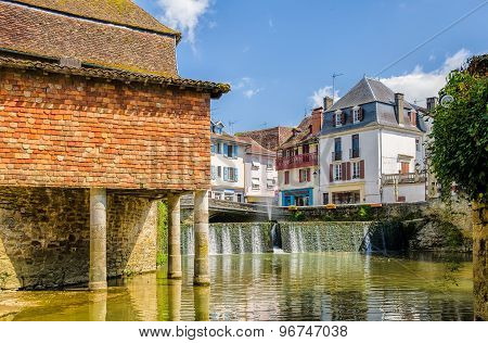 House on stilts in the French town of Salies de Bearn.