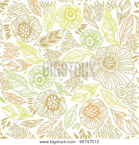 Decorative floral seamless background pattern in bright colors