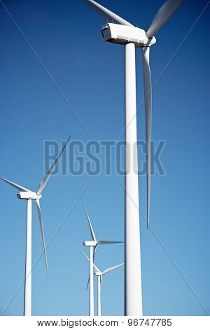 Windmills for electric power production, Maranchon, Guadalajara Province, Castilla La Mancha, Spain