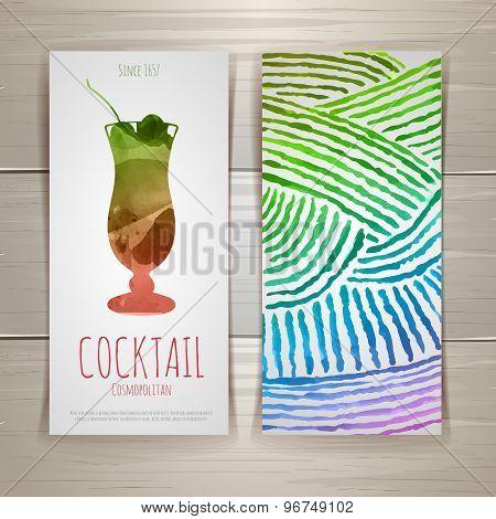 Watercolor Decorative Cocktail