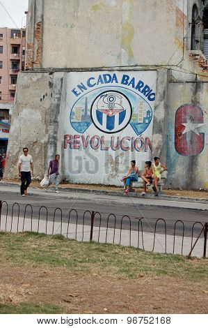 People And Revolution Mural, Havana