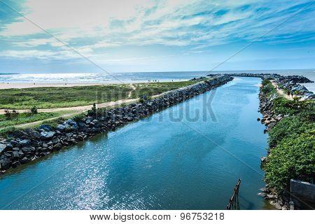Canal in Vitoria, Espirito Santo, Brazil