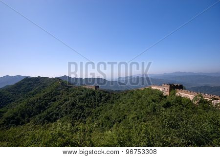 The Great Wall on top of the mountains