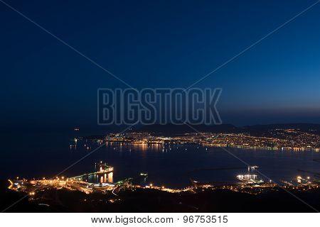 Bay of Novorossiysk by Night