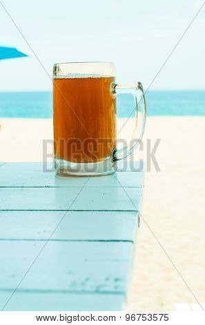 A Cold Drink On The Beach