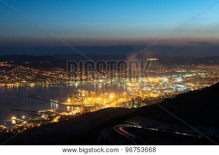 Harbor of Novorossiysk by Night