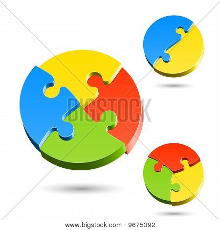 Different shapes of jigsaw puzzle