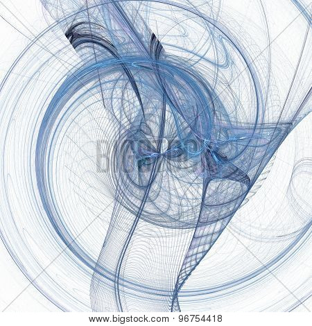 Abstract chaotic spiral background