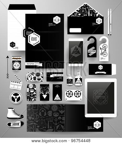Abstract polygonal business set.