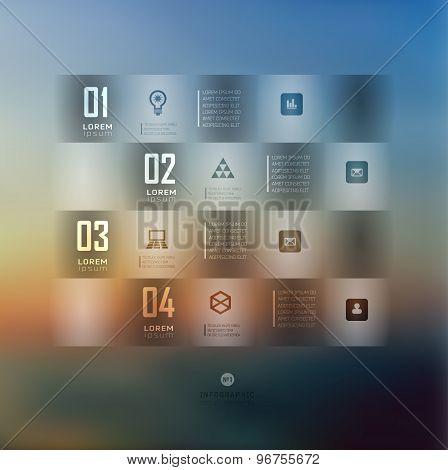 Transparent business Infographics. Shadows options Shadows options