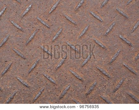Close Up Of Material Floor With Steel Rust.