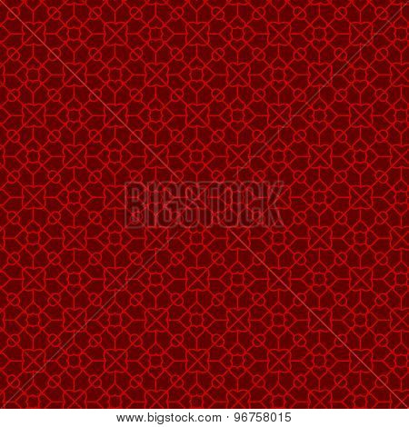 Seamless Chinese window tracery geometry diamond pattern background.